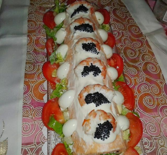 Brazo de Gitano de Salmón y Caviar