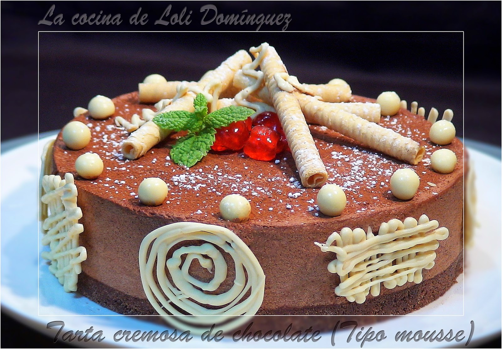 Tarta cremosa de chocolate (Tipo mousse).