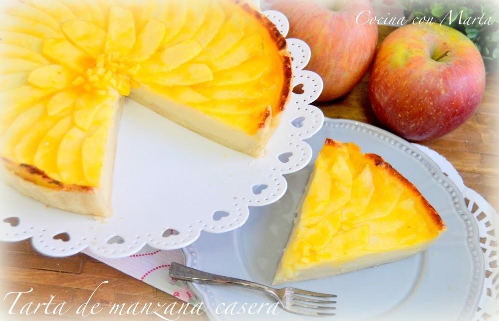Tarta de manzana casera y tradicional