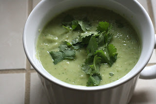 Spicy Cold Tomatillo Soup