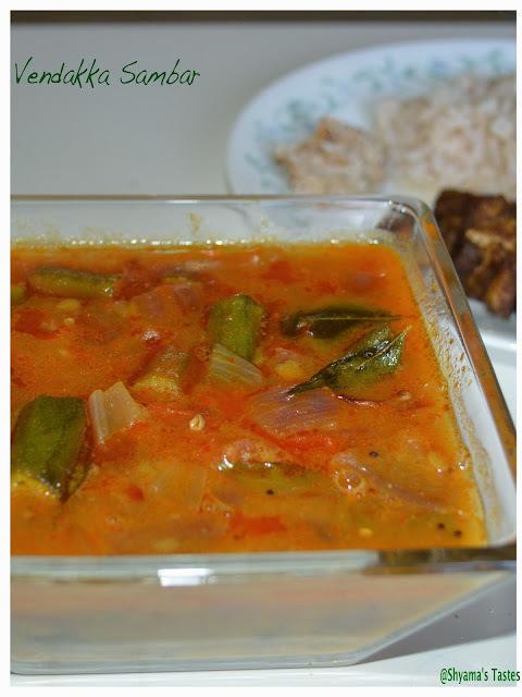 Vendakka Sambar/Okra Sambar-Tamilnadu Style