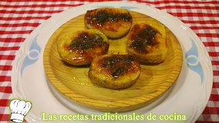 Recetas de chuletas de la huerta o patatas al horno