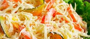 Salada de palmito desfiado  &  Pavê de bis e sorvete