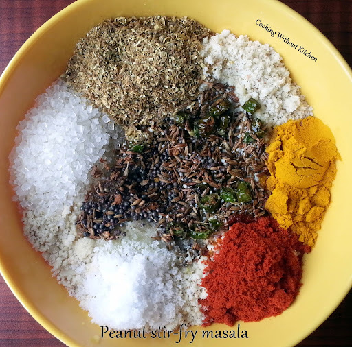 Peanut stir-fry masala powder