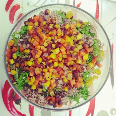 Salada de Cenoura Colorida