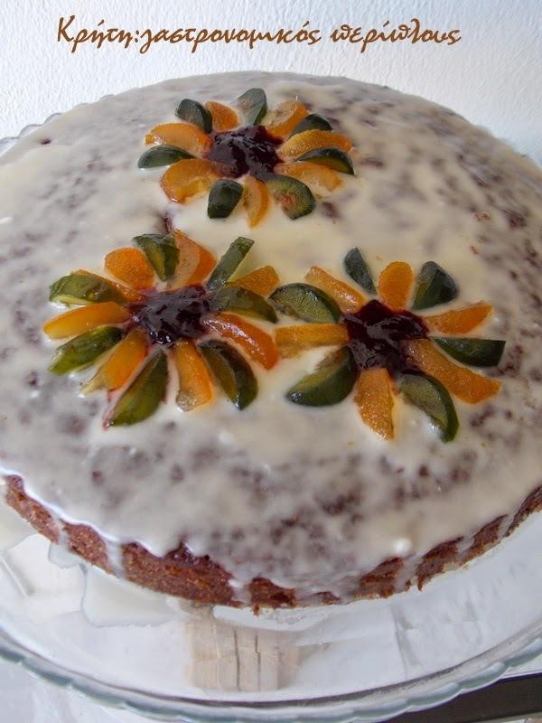 Ginger cake με πετιμέζι  (Κέικ πιπερόριζας με πετιμέζι )