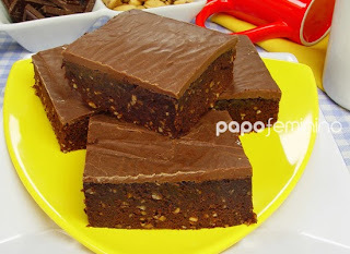 Brownie de Leite Condensado e Chocolate