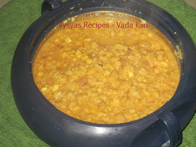 Vada kari - Vada curry - for Idli Dosa Chapathi and Appam