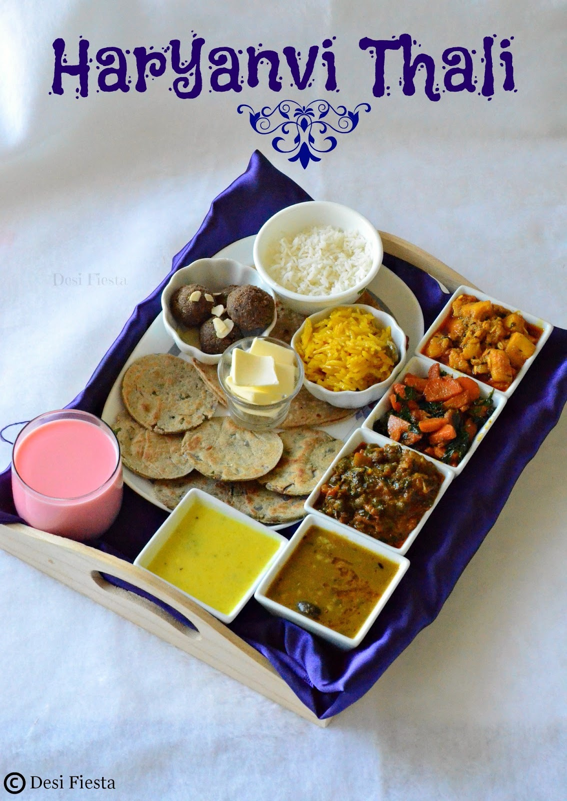 Haryanvi Thali |Simple Haryanvi Lunch Thali