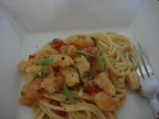 Camarão  com  Espaguete
