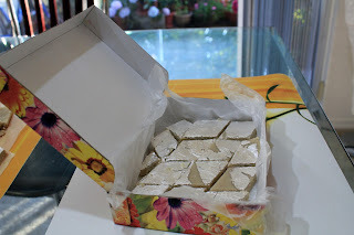 kaju katli with milk powder