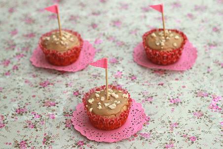 Muffins de Cacahuete y Chocolate Sin Azúcar