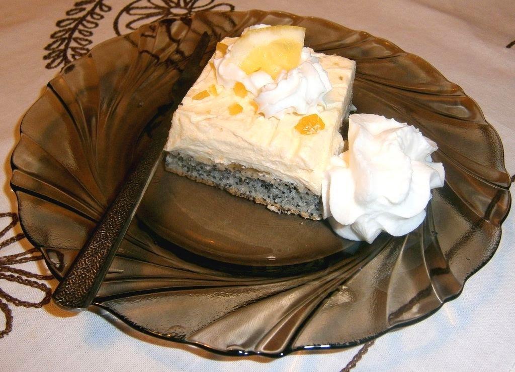 Makový koláč s citrónovým krémom