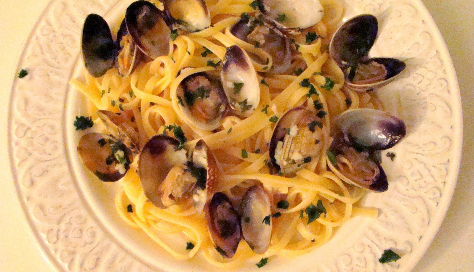 Spaghetti aux palourdes ail persillées