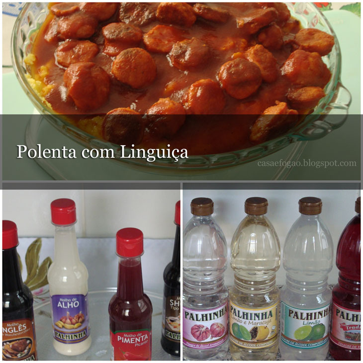 Polenta com Linguiça