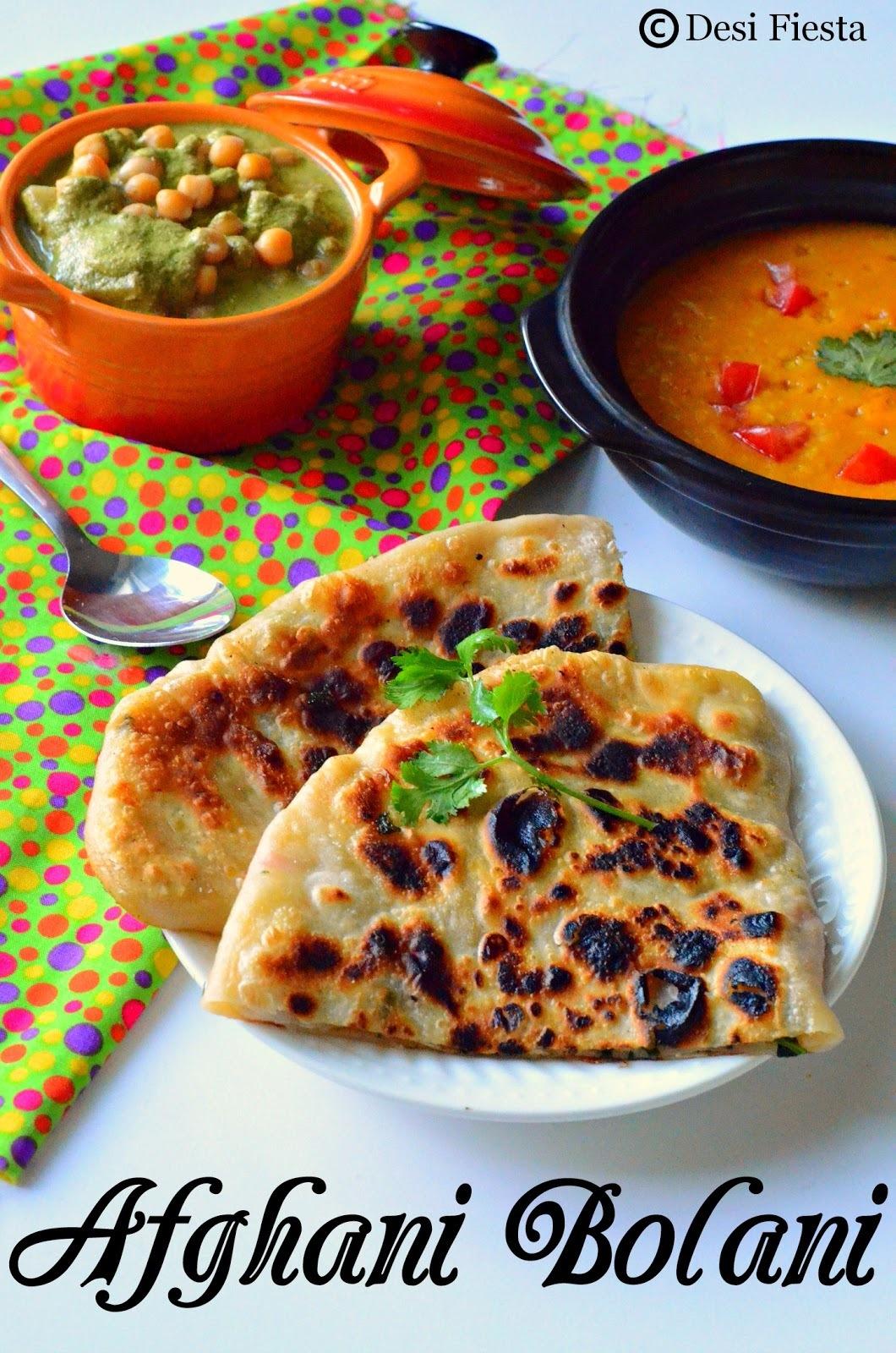 Afghani Bolani Recipe ~Afghanistan Recipes