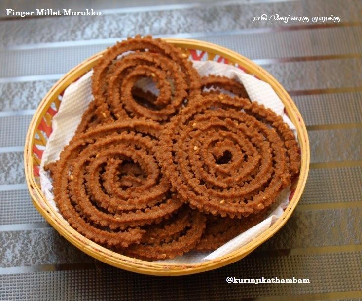 Finger Millet / Ragi / Kelvaragu Murukku | Finger Millet Recipes