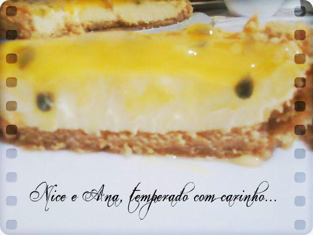 Torta de Maracujá com Caldinha de Maracujá