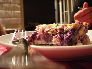 El mejor cheesecake de arándanos que he comido en mi vida