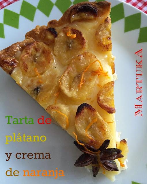 Tarta de Plátano Y Crema De Naranja