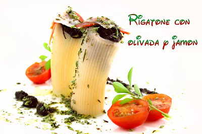 Rigatonis | Receta Original y Creativa | Rigatoni rellenos de Olivada