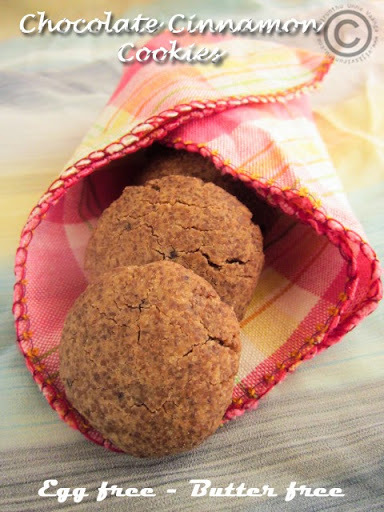 CHOCOLATE CINNAMON COOKIES - EGG FREE BUTTER FREE I VEGAN CHOCOLATE CINNAMON COOKIES