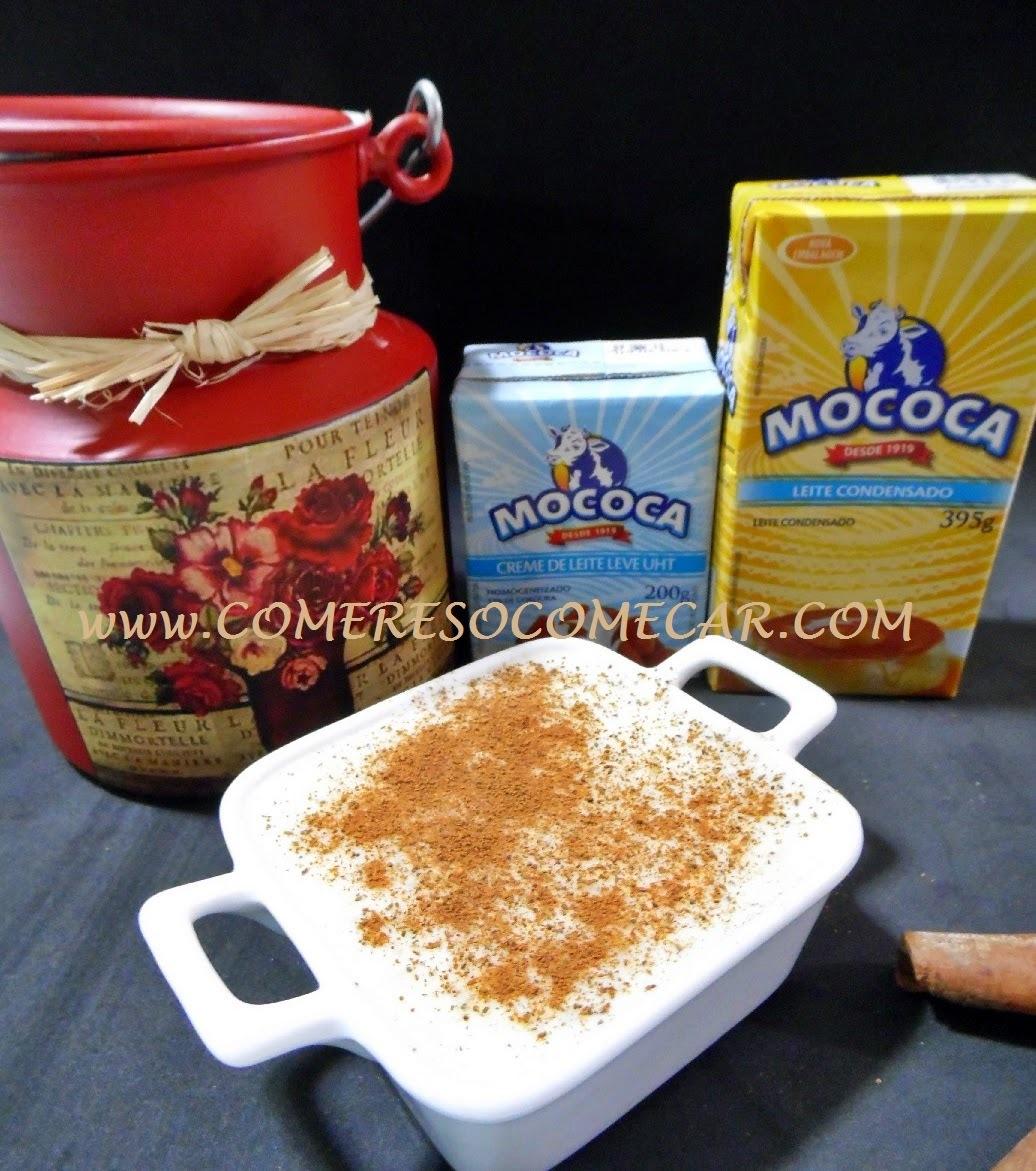 arroz doce com açucar queimado e coco ralado