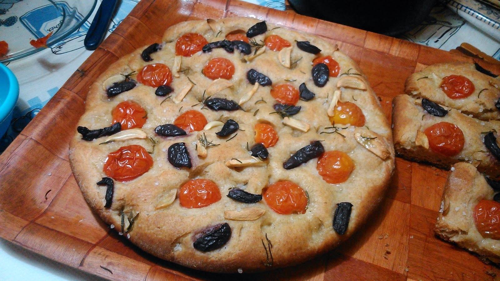 Fazendo Focaccia italiana... É o Prato do Dia!