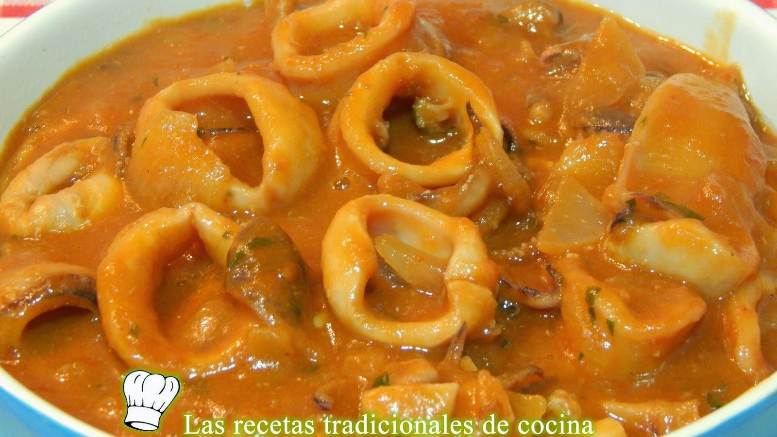 Receta de calamares en salsa Americana