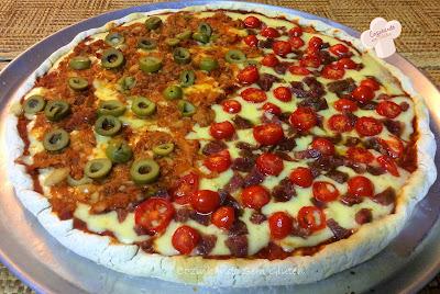 Pizza com borda