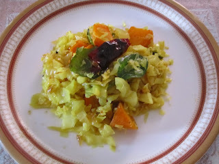 South Indian style cabbage curry