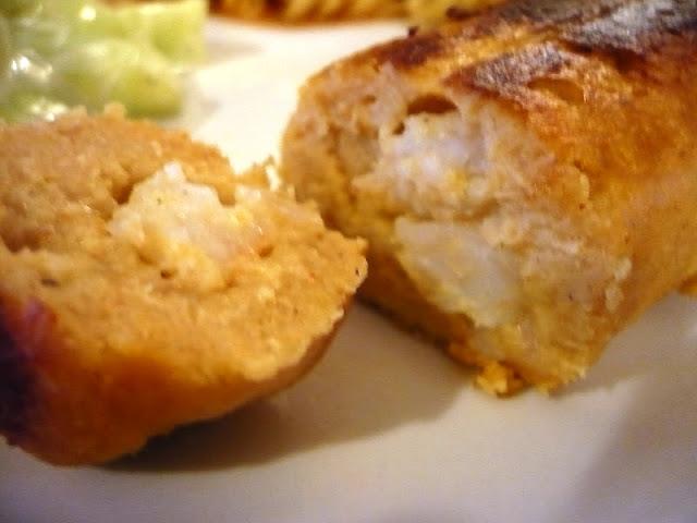 Boudin de saumon-maquereau aux scampis maison