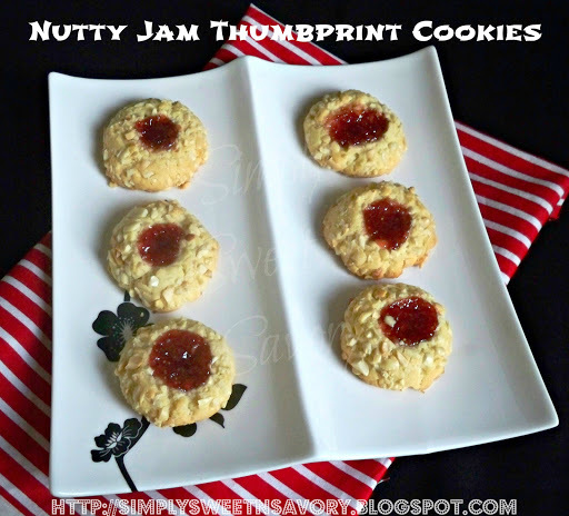 Nutty Jam Thumbprint Cookies