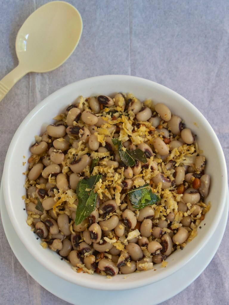 Karamani Sundal | Cowpeas stir fry - A real protein for the