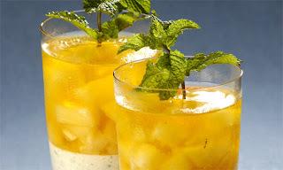 gelado de abacaxi com folha de gelatina