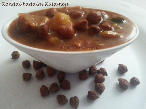 KondaiKadalai Kulambu | Channa Spicy Gravy
