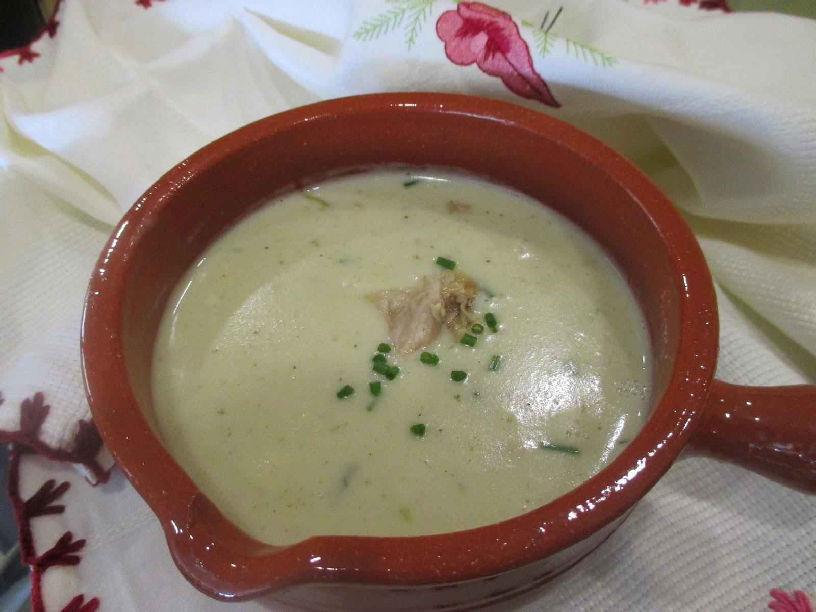 Sopa de Cogumelos e Cebolinho