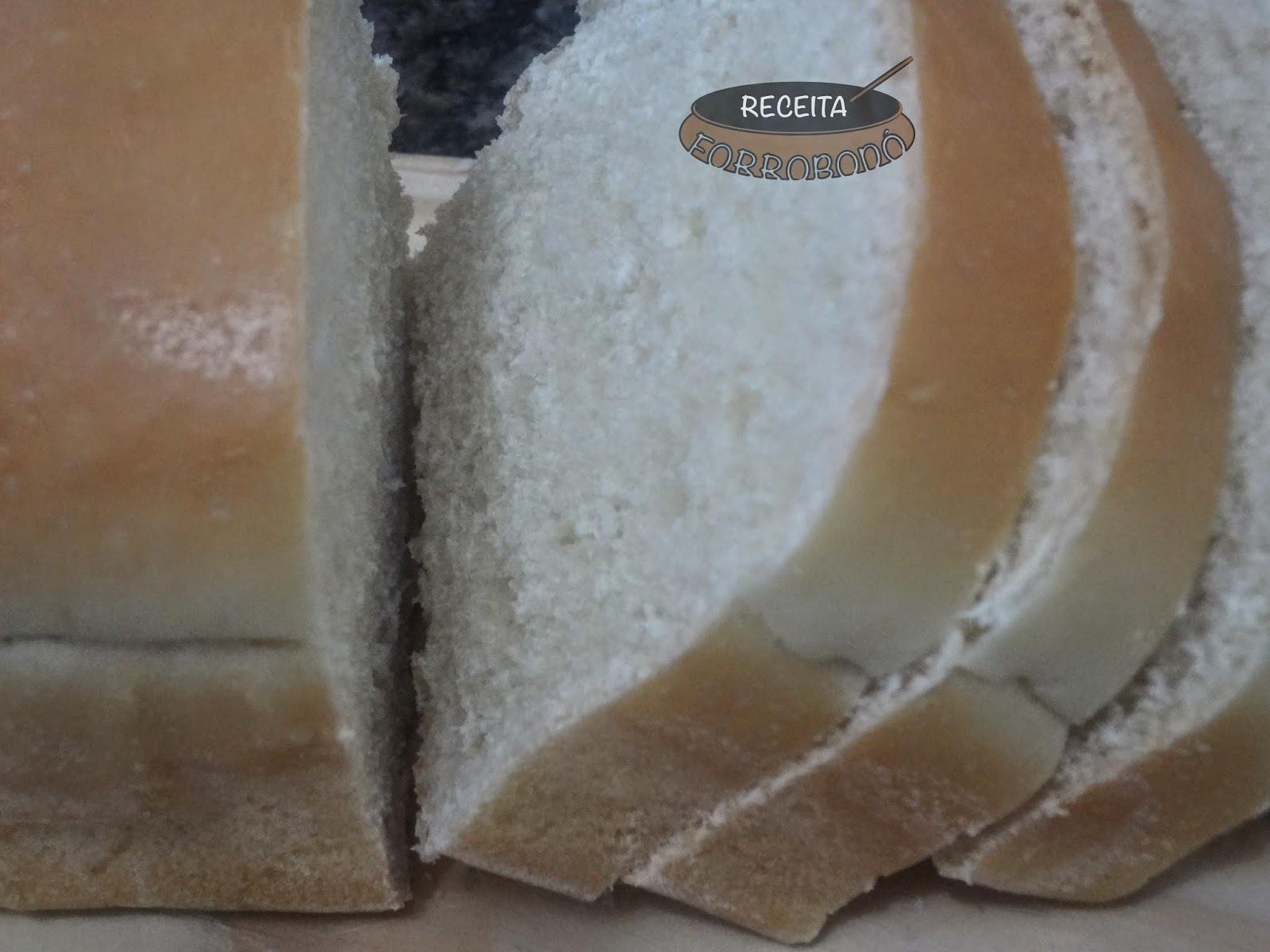 pão caseiro massa bem fofinha e macia