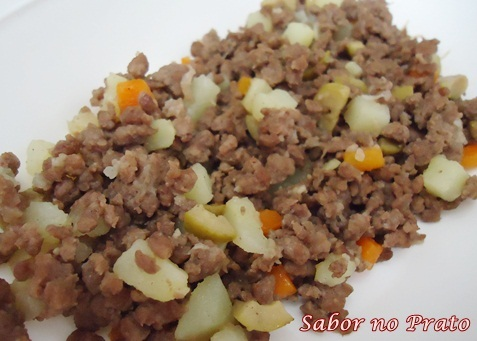 comida feita com carne moida