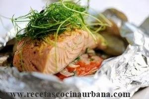 Como preparar papillote de salmón estilo gourmet