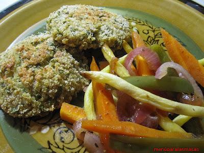 Menú del día: Croquetas de quinoa y verduras al horno