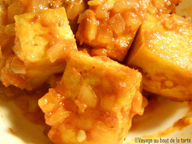 Tofu frit à la tomate