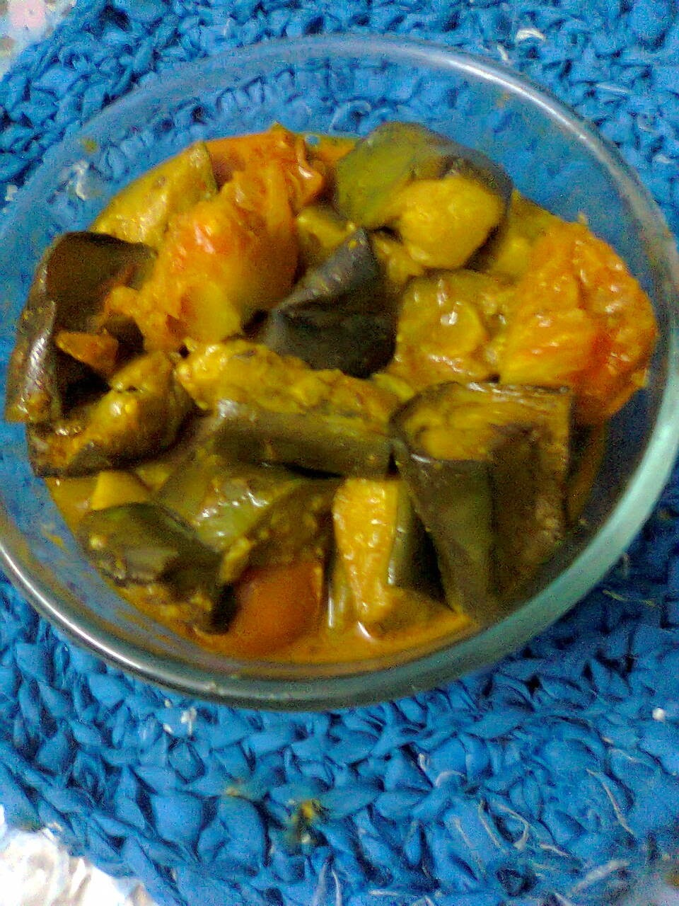 Vegetarian Curry with Eggplant &Tomato/Brinjal-Tomato Curry