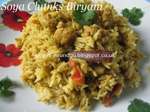 Soya Chunks Biryani/Meal Maker Biryani