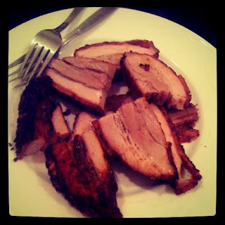 Crispy Skin Marinated and Roasted Asian Pork Belly