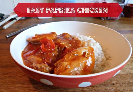 Recipe ~ Easy paprika chicken