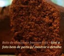 Receitas de bolo de chocolate simples de liquidificador