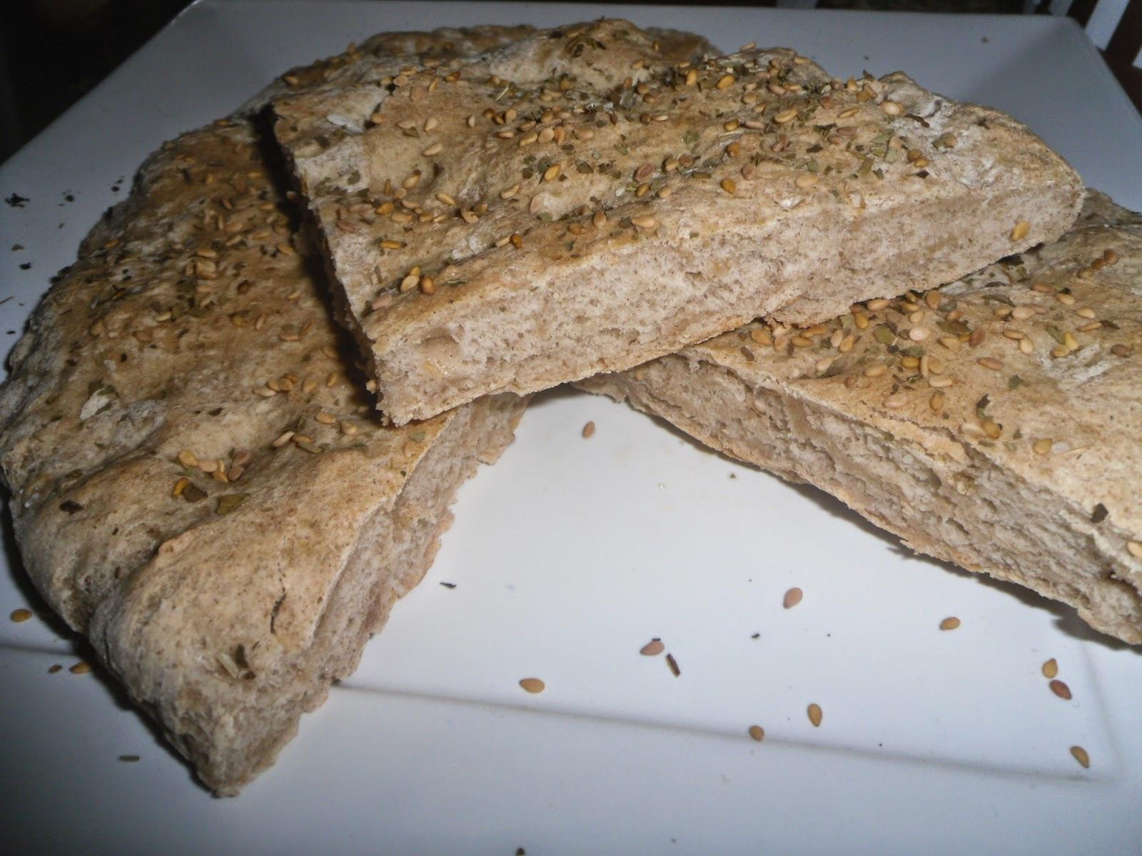 Pão achatado de trigo e centeio- World Bread Day 2014