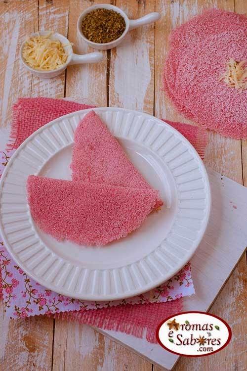 Receita de massa de tapioca colorida