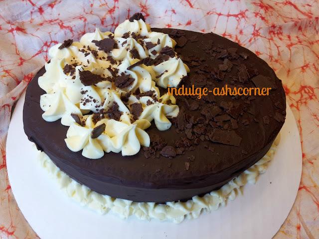 Choc Cream Flower Cake